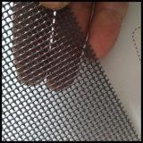 Acoplamiento plisado cordón de la pantalla del insecto de la pantalla del mosquito de la pantalla del insecto del poliester del acero inoxidable