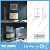 LEDの接触スイッチMDFによって曲げられる木製の浴室用キャビネットの単位の大気(PF129c)