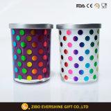 Couvercle de métal cylindrique en verre Verre Jar Jar de stockage