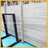 Telhas de mármore de pedra de madeira brancas de China para o revestimento do banheiro e da cozinha