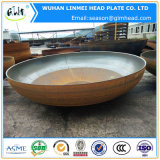 皿に盛られる大口径が付いている皿に盛られた楕円形ヘッドは管の帽子を終了する