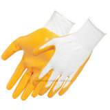 Маслостойкий нитриловые покрытие рабочие перчатки