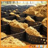 Materiais de Construção de Plástico Preto Geocells HDPE