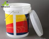 カバープラスチック注入のバケツが付いている5L、10L、15Lおよび20Lによってリサイクルされるプラスチックバケツ