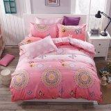 Preço baixo pequena quantidade mínima de microfibra de roupa de cama personalizado definido