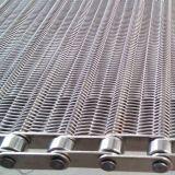 Acoplamiento de alambre del transportador del alambre plano de acero inoxidable