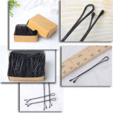 5.5cm Box Packed Classic Black Metal Hair Pins (JE1040)