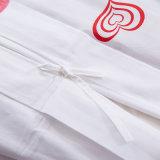Постельных принадлежностей гостиницы сатинировки печатание комплекты крышки Duvet белых Linen установленные