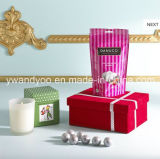 Vela perfumada decorativa del regalo de la soja con el rectángulo de lujo