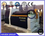 Máquina de rolamento de dobra hidráulica universal da placa W12S-12X2000 de aço