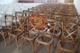 تجاريّة مقادة منتوجات خشبيّة صليب ظهر قابل للتراكم يتعشّى كرسي تثبيت