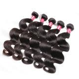 卸売価格の毛の高く軽いレースの閉鎖ボディ波のインドに人間の毛髪の編むこと