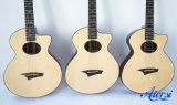 Aiersi Venta al por mayor por encargo toda la guitarra acústica sólida principal (SG03ARNS)