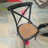 中国の屋外の木の十字の背部X園遊会の椅子