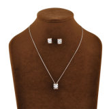 De hete het Verkopen Reeks van de Juwelen van het Kristal van het Witgoud van het Ontwerp van Retangle van de Namaakbijouterie