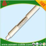 CATVの高品質のためのSywv 75ohmのPVCによって絶縁される銅の編みこみの同軸ケーブルRg11