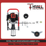 DPD-100 martillo montón de gas portátiles de mano puesto cerco fácil conductor gasolina
