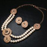 方法ビードの真珠の合金のイヤリングおよびネックレスの人工的な宝石類セット