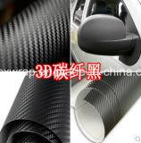 Película de la fibra del carbón del abrigo 3D del coche