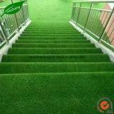 Hierba artificial del paisaje verde natural superior
