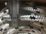 폴리에스테 Briaded 밧줄 4mm-40mm 검정에 백색 8개의 16의 24의 물가