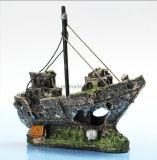 Schip van de Piraat van de Hars van het Aquarium van de Decoratie van de Tank van vissen het Bijkomende