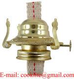 Lampada di olio di vetro libera del cherosene dell'annata con la maniglia del metallo