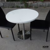 Kkr High-Glossy Anti-Scratch White Round Small Coffee Table