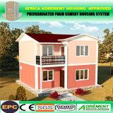 Villa préfabriquée en acier légère de Chambres préfabriquées à énergie solaire de coût bas