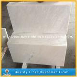Brames de marbre blanches de neige bon marché de la Chine pour des partie supérieure du comptoir, dessus de vanité