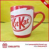 Tasse à café en céramique en forme de balle blanche 12 oz pour cadeau promotionnel