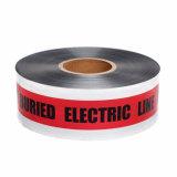 BOPP/Al/PE材料の地下の探索可能な警告か注意またはバリケードテープ