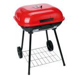 Gril portatif de BBQ de charbon de bois de chariot à Apple du rouge 22 ''