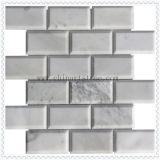 Het witte 3D Marmer Getuimelde Mozaïek van de Steen voor de Tegel van de Muur