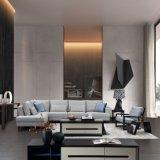 新しいデザイン居間の家具のための薄い灰色ファブリックコーナーのソファー