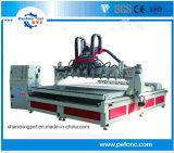 4-Axi husillo ocho Wood Router CNC para el procesamiento de las patas de mesa