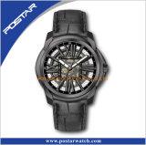 高品質の多彩な本革バンド自動腕時計