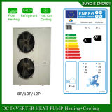 Amb. Condensador da bomba de calor da fonte de ar do quarto 12kw/19kw/35kw Evi do medidor do assoalho Heating100~350sq da casa do inverno de -25c calefator de água rachado do melhor