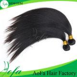 El pelo natural humano indio de la Virgen Yo-Sujeta con cinta adhesiva la peluca del pelo
