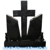 一般に墓地記念碑として使用される様式の花こう岩の石の十字