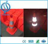 Cone de trânsito dobrável com luz LED