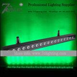 lineares Stab-Flut-Licht der Wand-18X18W der Unterlegscheibe-DMX LED