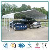 Il veicolo per il trasporto del metallo della struttura d'acciaio si è liberato del Carport normale prefabbricato dell'automobile del doppio del tetto 20*21*7