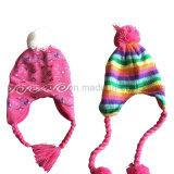 Шлем/крышка Beanie горячей зимы сбывания теплые акриловые связанные