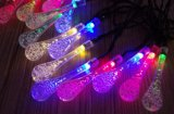 Crystal Waterdrops Solar String Lights