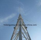 De gegalvaniseerde Toren van de Antenne van Guyed van de Telecommunicatie van het Rooster van het Staal