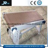 Transporte de correia de aço da velocidade ajustável da alta qualidade para a máquina do alimento