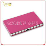 High Qulaity Business Metal Cover Porte-cartes en cuir