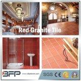 Красный гранит половины слоя для полированной/Flamed плитки оформление