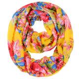 Печать с цветочным рисунком женщин моды полиэстер шифон шарфом (YKY1118)